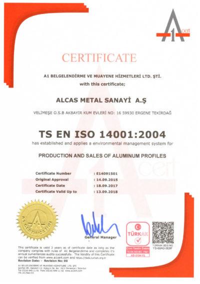 thumbnail of ISO 14001 ALCAS METAL – E14091501 EN