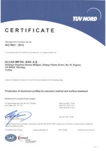 thumbnail of ISO 9001 ALCAS EN TUV NORD
